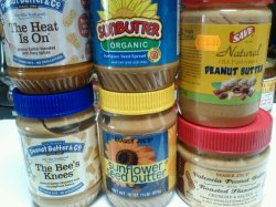Peanut, sunflower, almond nut butters