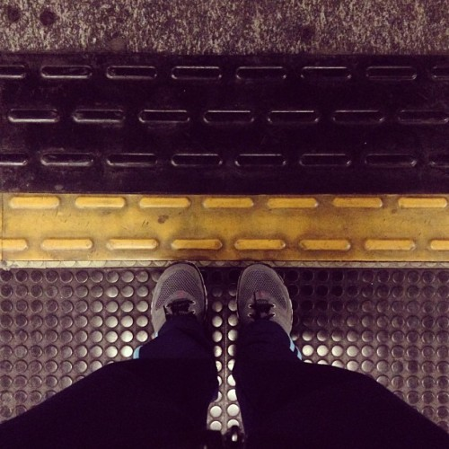 Stay behind the yellow line. #metro #milan #italy Headed to #Crossfit all-day. I will survive! March 02, 2013 at 0931AM